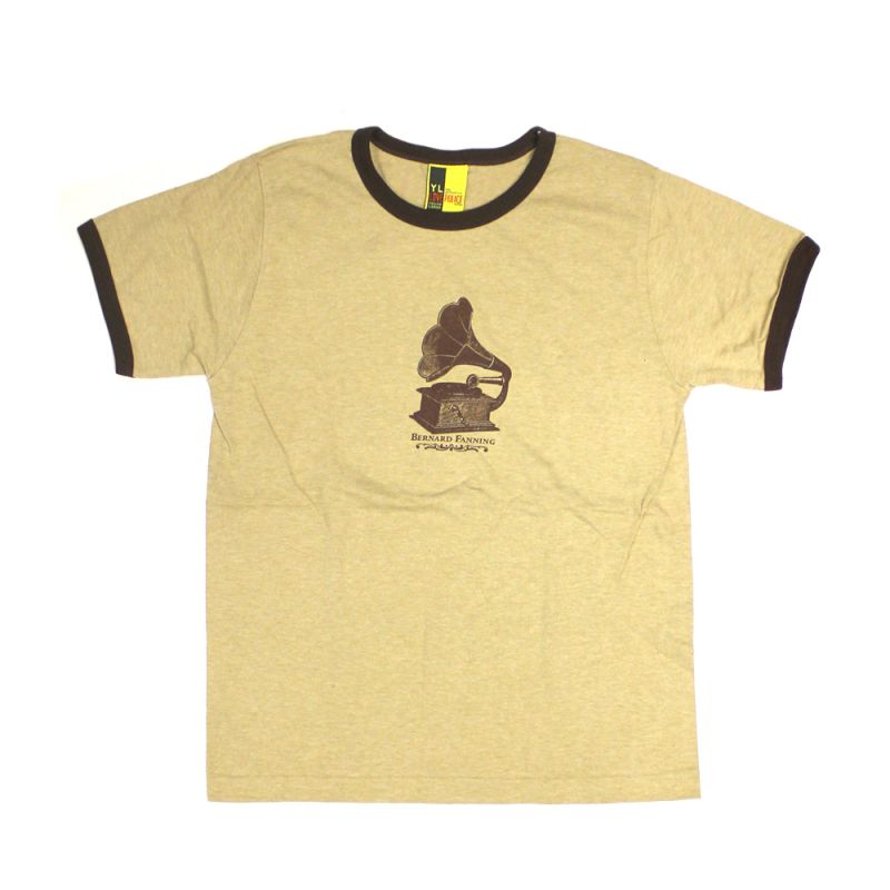 Gramaphone Light Brown Mens Tshirt
