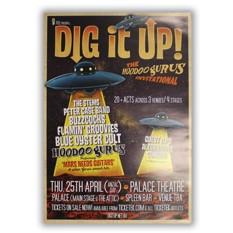 Hoodoo Gurus Dig It Up Poster PALACE THEATRE
