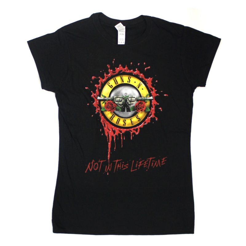 Bullet Seal Not In This Lifetime Black Tour Ladies Tshirt