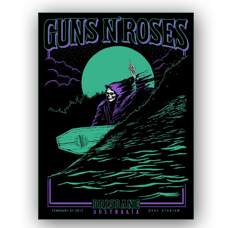 Brisbane - 7th Feb Lithograph Reaper Surfer Purple (Limited)
