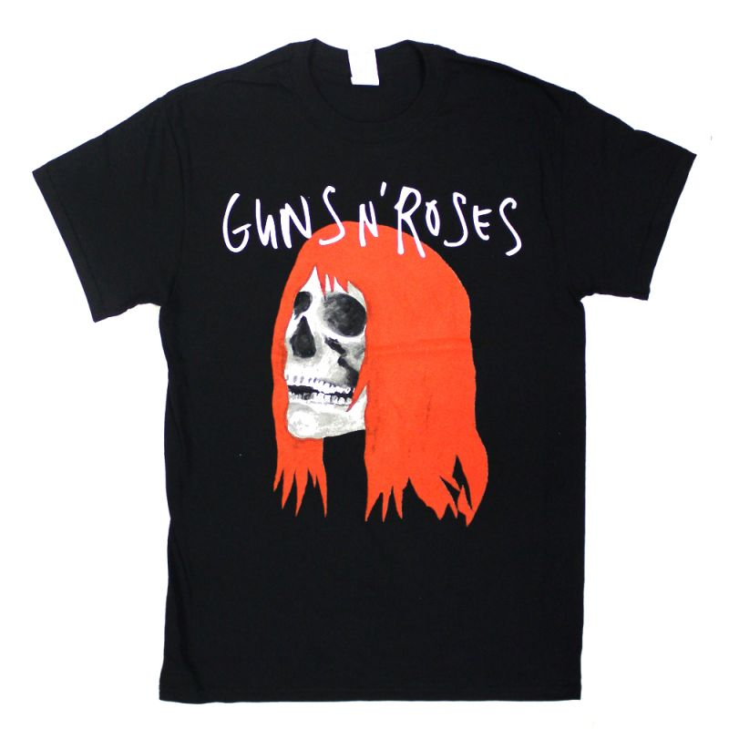 Adelaide - 18th Feb Skull With Red Hair Event Black Tshirt (Limited)