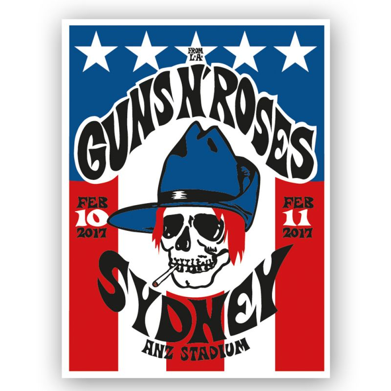 Sydney - 10/11th Lithograph Skull Blue Hat (Limited)