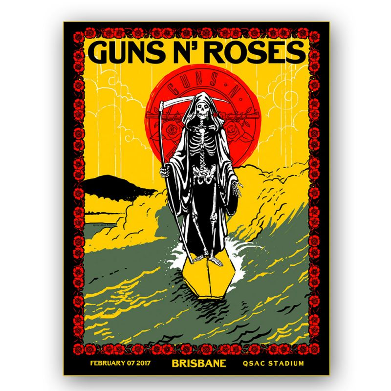 Brisbane - 7th Feb Lithograph Reaper Surfer Yellow (Limited)