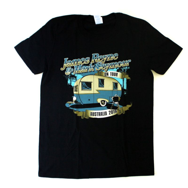 James Reyne/Mark Seymour Caravan Black Tour 2016 Tshirt