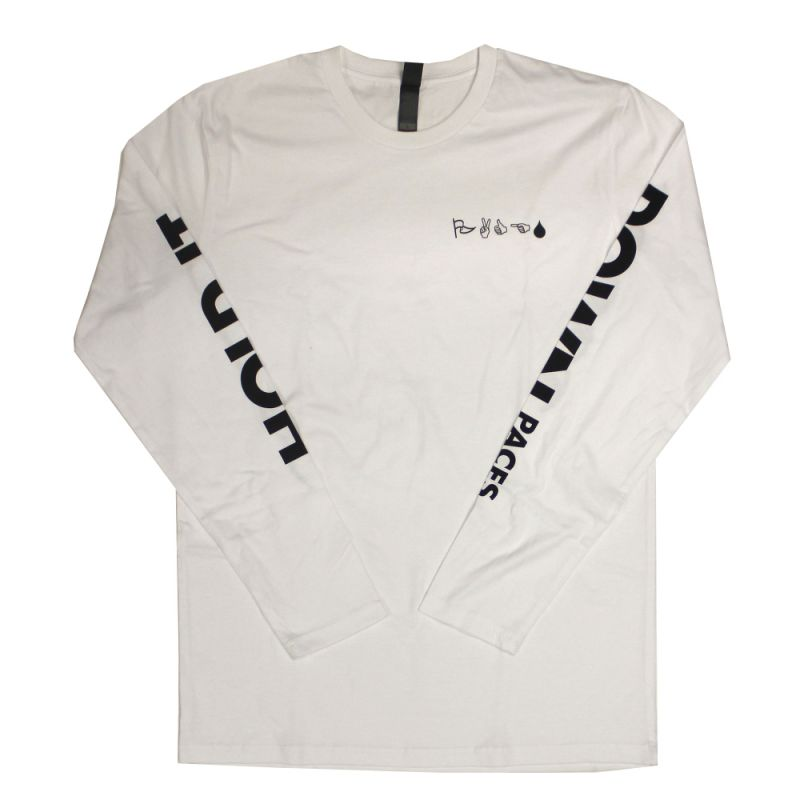 Hold It Down White Longsleeve Tshirt