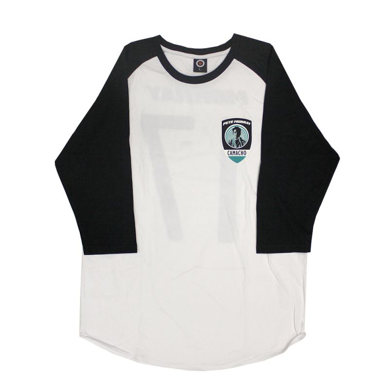 Comacho Shield Black/White Baseball Tee