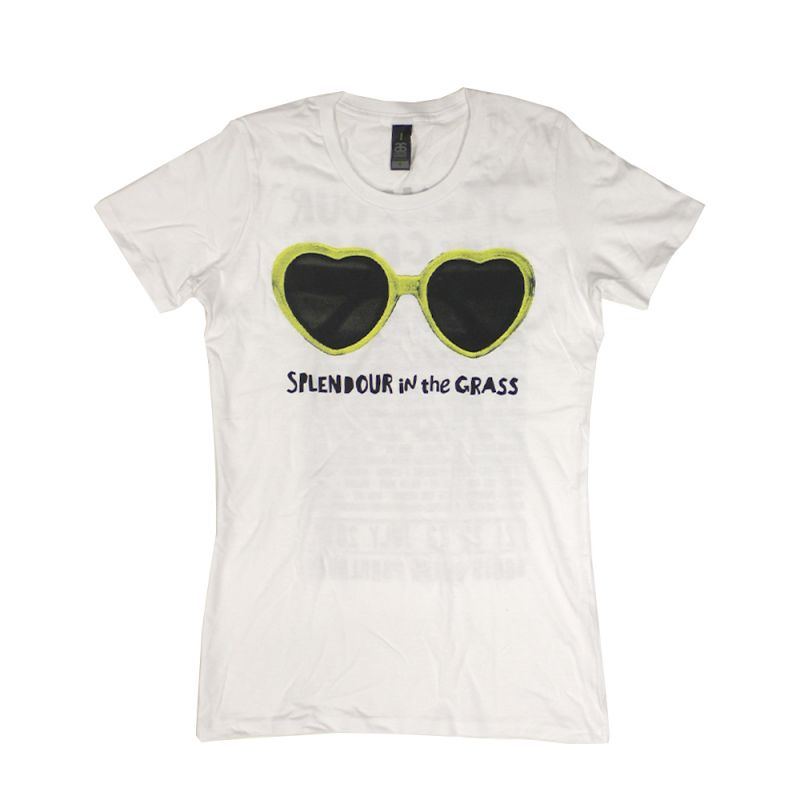 Heart Sunnies White Tshirt