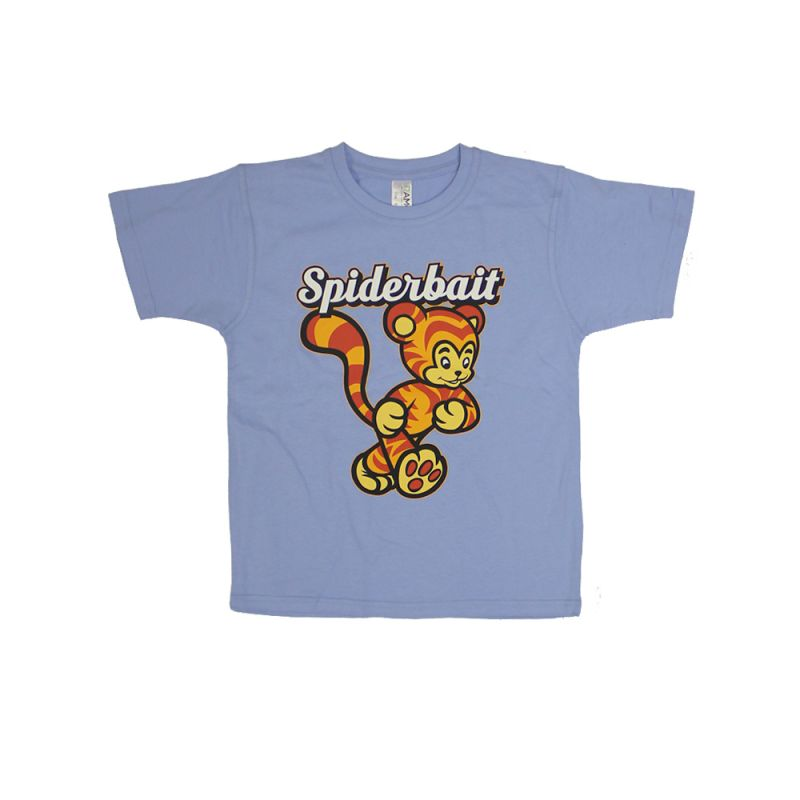 Tiger Light Blue Kids Tshirt