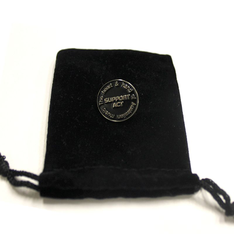 'Solid and secure metal lapel pin'
