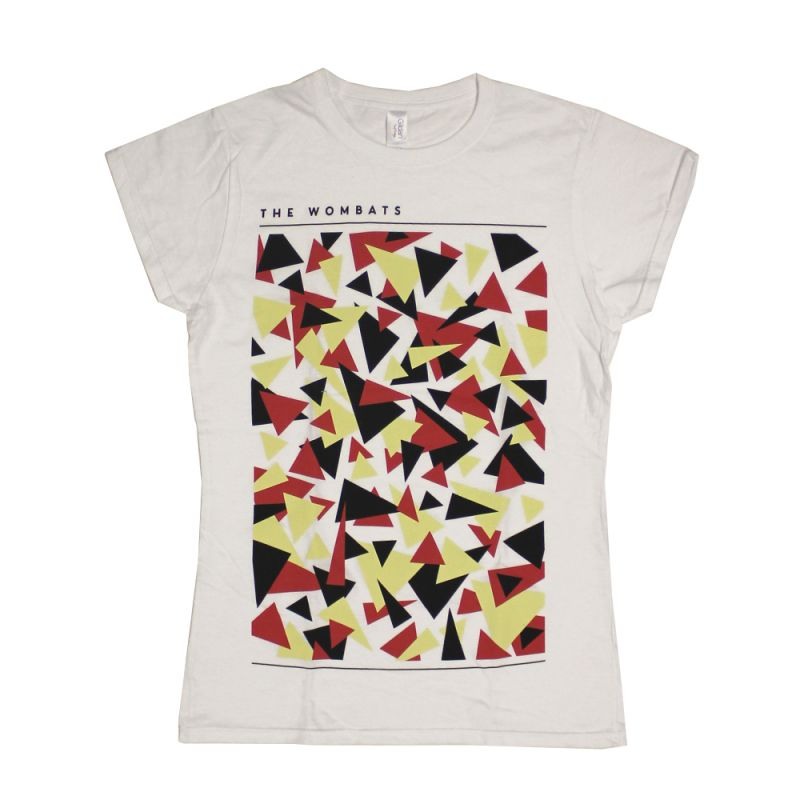 Triangles Ladies White Tshirt