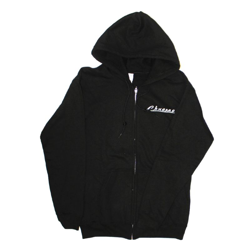 Chrome Black Zip Up Hood