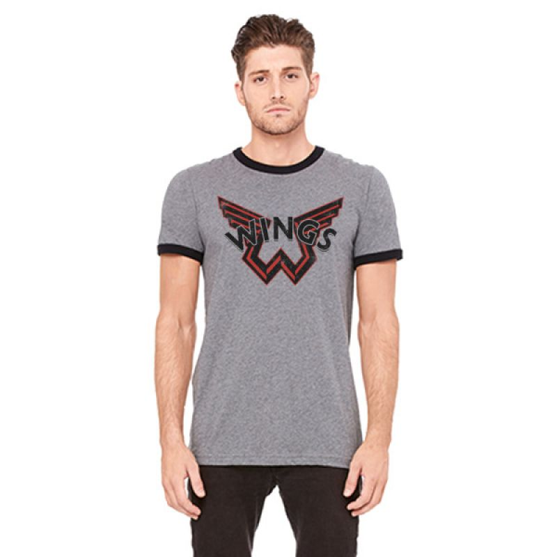 Wings Dark Grey Ringer Tshirt One On One World Tour 2017